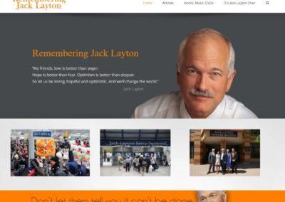 Rembering Jack Layton