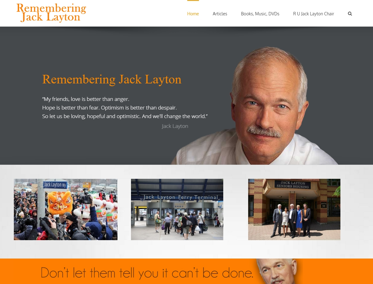 Remembering Jack Layton